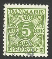 Denmark, 5 O. 1934, Sc # J27, Mi # 27, Used - Port Dû (Taxe)