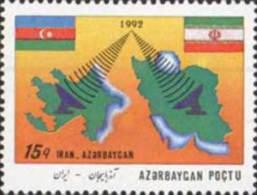 Azerbaijan 1993 Azerbaijan-Iran Telecommunications Co-operation, Mi 111 MNH(**) - Aserbaidschan