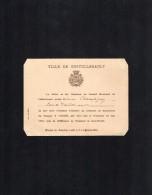 VP1400 - Carte D'Invitation De La Ville De CHATELLERAULT (Vienne)Concours De Manoeuvres De Pompes à Incendie - Pompiers - Cartes