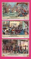 5 Chromos LIEBIG - Histoire Des Pays-Bas - Dorestad - Muiden - Armada - Scheveningue - Bouillon OXO - LEMCO - Liebig