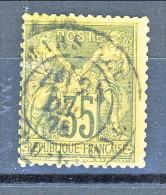 Francia Sage 1878  Tipo II Y&T N. 93 C. 35 Violetto-nero Usato - 1876-1898 Sage (Type II)