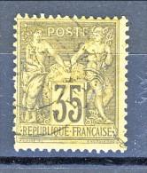 Francia Sage 1878  Tipo II Y&T N. 93 C. 35 Violetto-nero Usato - 1876-1898 Sage (Tipo II)