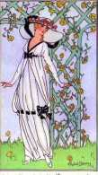Costumes Parisiens 1913  Format17x12 Cm,Robe De Jeune Fille Crepe De Chine Blanc Et Velours Noir, Illustrateur R Dammy? - Francia