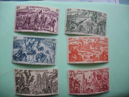 DU TCHAD AU RHIN SERIE DE 6 TIMBRES NEUFS 1946 - A.E.F. (1936-1958)
