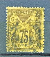 Francia Sage 1890  Tipo II Y&T N. 99 C. 75 Violetto Su Arancio Usato - 1876-1898 Sage (Type II)