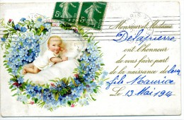 FAIRE PART NAISSANCE - JOLI CARTE DE 1914 - Birth & Baptism