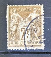 Francia Sage 1900  Tipo I Y&T N. 105 Fr 2 Bistro Su Azzurro Usato - 1876-1898 Sage (Type II)