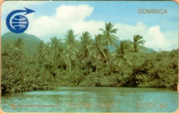 Dominica - DOM-2A, GPT, G&W, Indian River & Palmt, 2CDMA Small Notch, 5.40 EC$ , 1000ex, 1989, Used? - Dominica