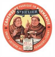 Etiquette De Fromage Camembert   - St Hélier  -  Union Laitière Des Fermiers D´Isigny  (Calvados) - Fromage