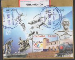 HF79.-.KOLUMBIEN / COLOMBIA .-. 2012 .-. USED .-. SOUVENIR SHEET, NEIVA CITY 400 YEARS. - Kolumbien