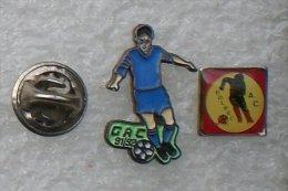FOOTBALL 91/92 & AC BOLBEC  2 PIN'S              UUU       185 - Football