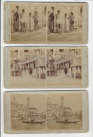 3 PHOTOS STEREO VENISE VENEZIA ITALIE CACHET BETTINI ET BONALDI CIRCA 1870 / 2 SCANS / FREE SHIPPING REGISTERED - Stereoscopio
