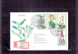 FDC D´Allemagne-Berlin En Recommandé - Fleurs - Série Complète (à Voir) - Pflanzen Und Botanik