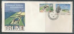 BRUNEI  Mi.Nr.  204-205 Eröffnung Des Neuen Internationalen Flughafens - FDC - Brunei (1984-...)