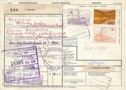 KORTENBERG - 1976  ,  Paketkarte Nach Spanien   -  Big Letter, Dispatch: 4,00 € - Belgien
