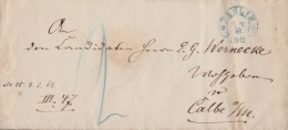 Preussen Brief Blauer Hufeisenstempel Berlin 7.2.68 - Preussen
