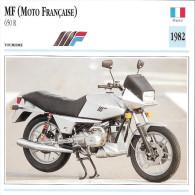 1982 - FICHE TECHNIQUE MOTO - DÉTAIL COMPLET À L´ENDOS - MF ( MOTO FRANÇAISE ) 650 R - TOURISME - FRANCE - Motor Bikes