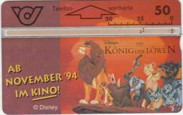 AUSTRIA - Disney/The Lion King, CN : 400A, 10/94, Used - Disney