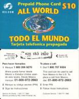 DOMINICANA  - Todo El Mundo, RSLcom Prepaid Card $10, Used