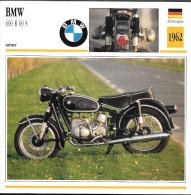 1962 - FICHE TECHNIQUE MOTO - DÉTAIL COMPLET À L´ENDOS - BMW 600 R 69 S - SPORT - ALLEMAGNE - Motor Bikes