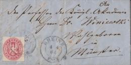 Preussen Brief EF Minr.16 Rheine 4.4.64 Gel. Nach Münster - Preussen