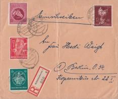 DR R-Brief Mif Minr.895,896,901,903 Wilhelmshaven 5.10.44 - Briefe U. Dokumente