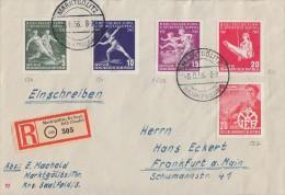 DDR R-Brief Mif Minr.530-533, 527 Marktgölitz 6.8.56 - Briefe U. Dokumente