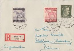 DR R-Brief Mif Minr.794,857,858 Wien 17.8.43 - Deutschland