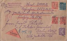 DR Orts-NN-Brief Mif Minr.170,182,183,2x 192 Berlin 7.3.22 - Briefe U. Dokumente