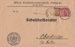 DR Brief Dienst Mif Minr.24,61 Stuttgart 22.11.20 - Dienstpost
