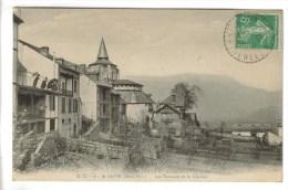 CPA SAINT SAVIN (Hautes Pyrénées) - Les Terrasses Et Le Clocher - Francia