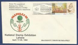 PAKISTAN 1992 FIRST DAY COVER FDC PAK PHILEX 92 PAKPHILEX NATIONAL STAMP EXHIBITION LAHORE 1992 - Pakistan