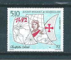 Timbres De St Pierre Et Miquelon  De 1992  N°569  Neufs ** Parfait Prix De La Poste - Nuevos