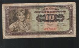 YUGOSLAVIA 10 Dinara 1965  Baroque Numbers - Yugoslavia