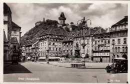GRAZ Hauptplatz, Mercedes, Fotokarte Gel.um 1950 - Graz