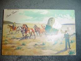 CPA John Innes Prairie Schooner Cow Boy Et Attelage - Unclassified