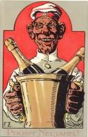 Neujahr, Mann In Uniform Mit Sektkübel, Künstler-AK, Sign. F.Z., Um 1910 - Nouvel An