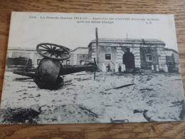 @      GUERRE 1914-15 ASPECT D'UN FORT D'ANVERS DETRUIT PAR LES BELGES        @ - Belgique