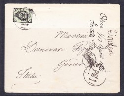E-RUS-55 LETTER FROM RUSSIA TO ITALY 30.07.1874