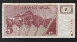 SLOVENIA 5 Tolara 1990 - Slovenia