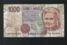 ITALIA 1000 Lire 1990 - [ 2] 1946-… : Républic