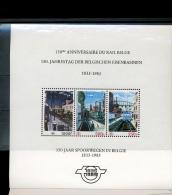 Bloc Des 3 Val **  Peintures De Paul Delvaux  Trains Et Gares  Stations Railways - Chemins De Fer