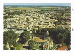 CPM - SURGERES (17) Vue Générale - L' église (belle Vue Aérienne) - Surgères