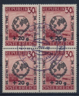 °Austria 1946 ANK 775 Mi 771 Block Of 4 Sonderstempel Special Postmark UNO Vereinte Nationen Used - 1945-60 Used