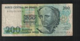 BRAZIL 200 Cruzados Novos On Cruzeiros - Brazil