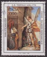 Italia 1996 Scott 2067 Sello º Cent. Nacimiento Giambattista Tiepolo (1696-1770) Sara Y El Angel Udine Palazzo Patriarca - 6. 1946-.. República