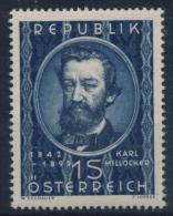 **Österreich Austria 1949 ANK 959 Mi 947 (1) Karl Millöcker Composer MNH - 1945-60 Unused Stamps