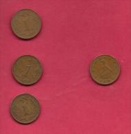 ZIMBABWE, 1980, 4 Off Nicely Used Coins 1 Cent KM1 C2723 - Zimbabwe