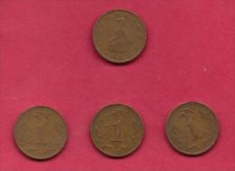 ZIMBABWE, 1983, 4 Off, Nicely Used Coins 1 Cent KM1 C2724 - Zimbabwe