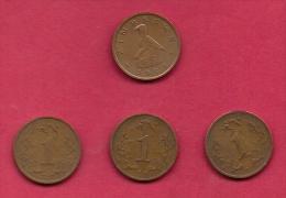 ZIMBABWE, 1985, 4 Off, Nicely Used Coins 1 Cent KM1 C2725 - Zimbabwe